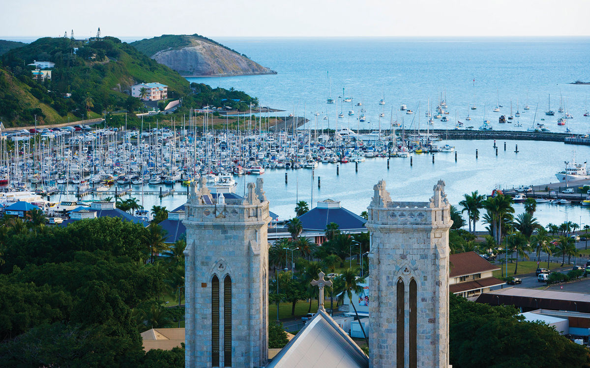 cruising-new-caledonia-pacific-islands-Noumea-Port-Moselle-cathedral-credit-Oliver-Strewe-Getty