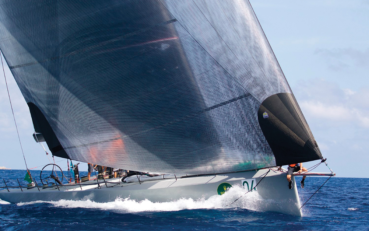 downwind-sails-Doyle-cableless-Maxi-72-MOMO-2018-Maxi-Yacht-Rolex-Cup-credit-Ingrid-Abery