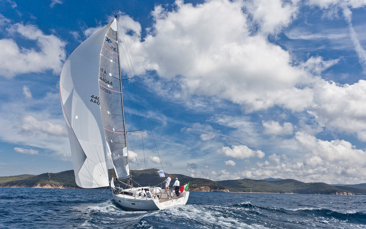 downwind-sails-X44-OneSails-asymmetric-credit-Francesco-Ferri