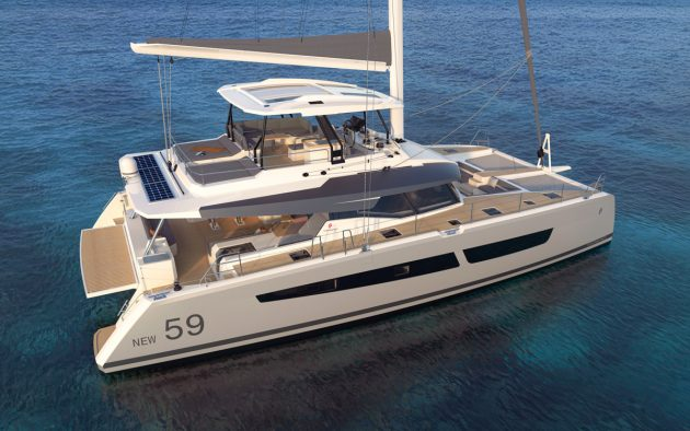 Fountaine-Pajot-59-new-yachts-Sailing-Catamaran-exterior-aerial-view