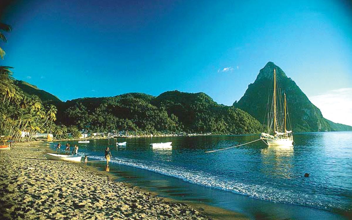 caribbean-nigel-calder-Shakedown-Cruise-Nada-anchored-Soufriere-St-Lucia