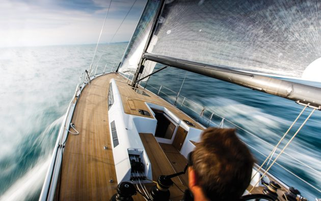View from the helm as Toby tests the sleek Solaris 50. But what key things should you look at during a trial? Photo: Paul Wyeth