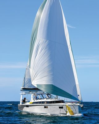 ovni-400-yacht-review-boat-test-bow-running-shot-tall-credit-Francois-Tregouet