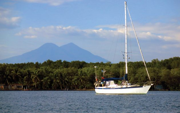 Distant Drummer anchored in Bahia del Sol. All photos Suzy Carmody unless otherwise stated