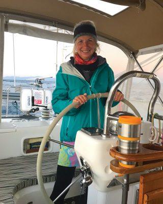 boat-hitchhiking-Karen-Slater-world-arc-helm