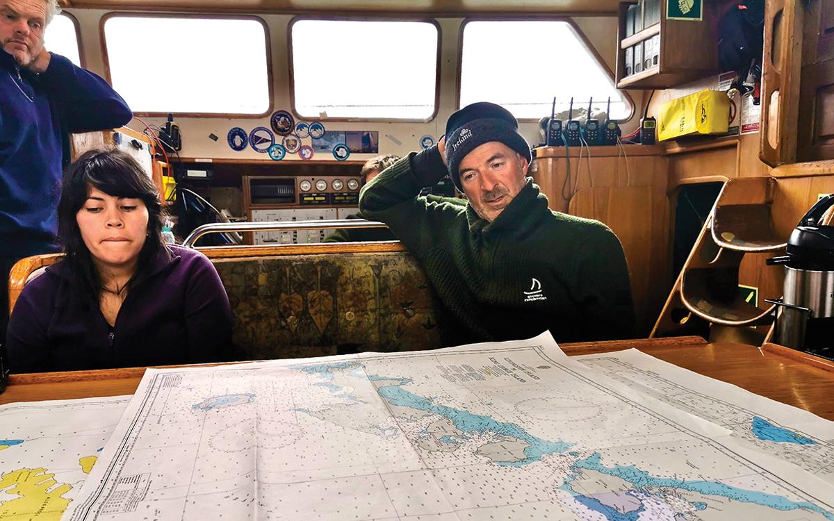 sailing-antarctica-nick-moloney-Ocean-Tramp-ketch-Damian-Foxall-charts