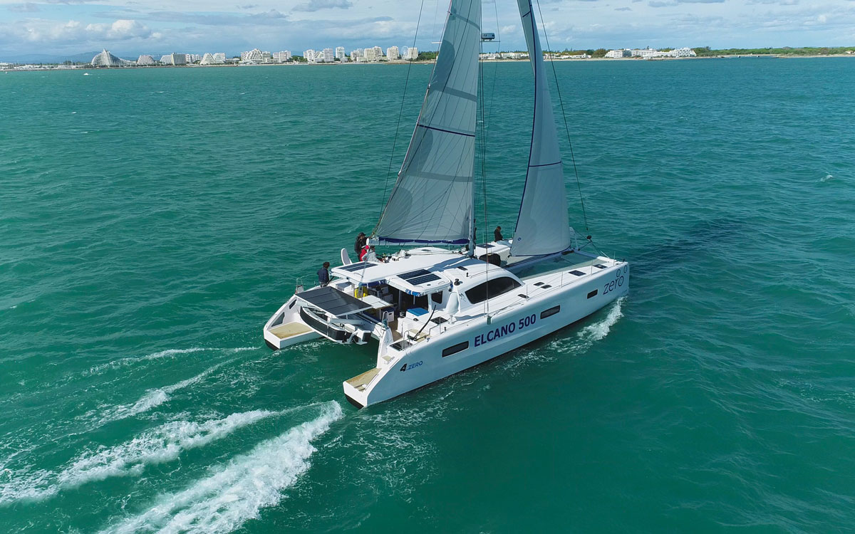 jimmy-cornell-electric-catamaran-aerial-view-credit-Gilles-Foucras-Outremer