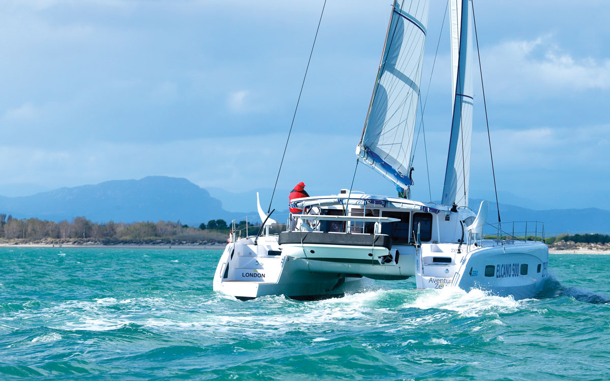 jimmy-cornell-electric-catamaran-aft-running-shot-credit-Gilles-Foucras-Outremer