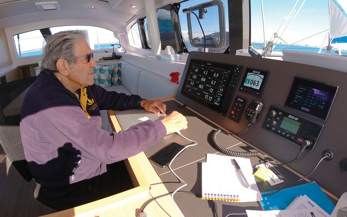 jimmy-cornell-electric-catamaran-nav-station-credit-Gilles-Foucras-Outremer