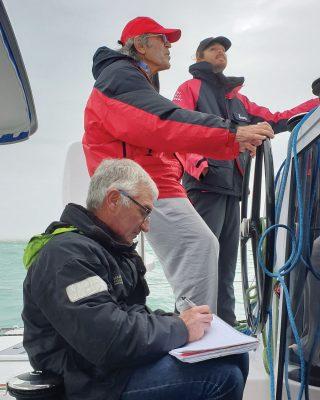 jimmy-cornell-electric-catamaran-oceanvolt-Alberto-Estivill-credit-Gilles-Foucras-Outremer