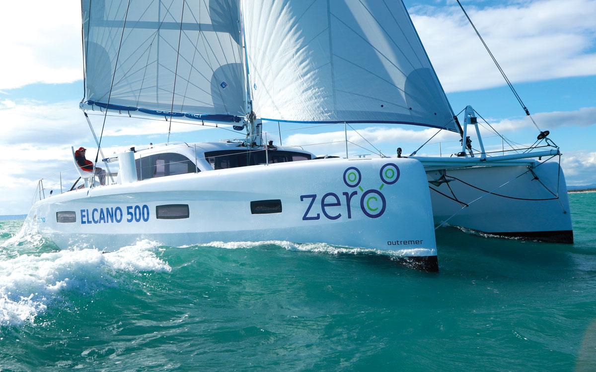 jimmy-cornell-electric-catamaran-running-shot-credit-Gilles-Foucras-Outremer
