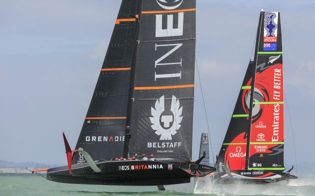 AC75s preparing for the America's Cup 2021