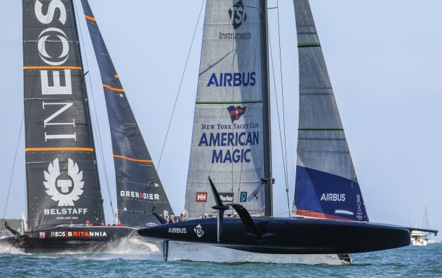 19/12/20 - Auckland (NZL) 36th America's Cup presented by Prada Race Day 3 New York Yacht Club American Magic, Ineos Team UK