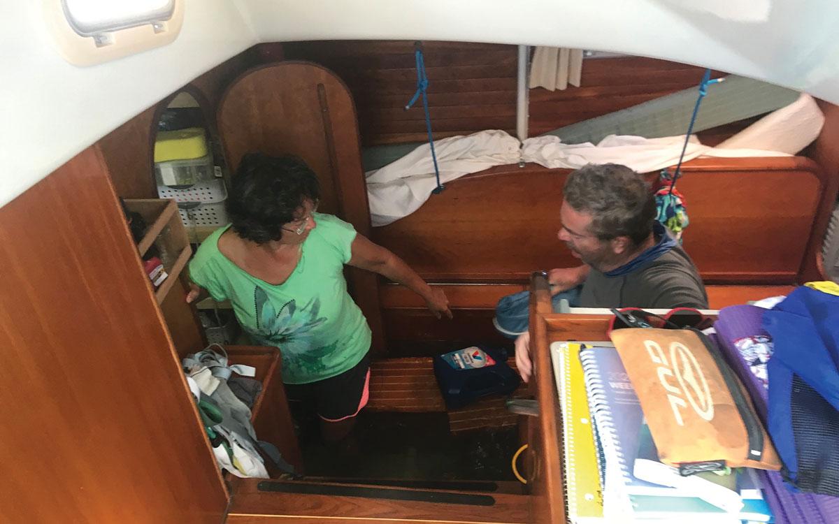 whale-collision-sank-yacht-atlantic-46-catamaran-interior-sinking