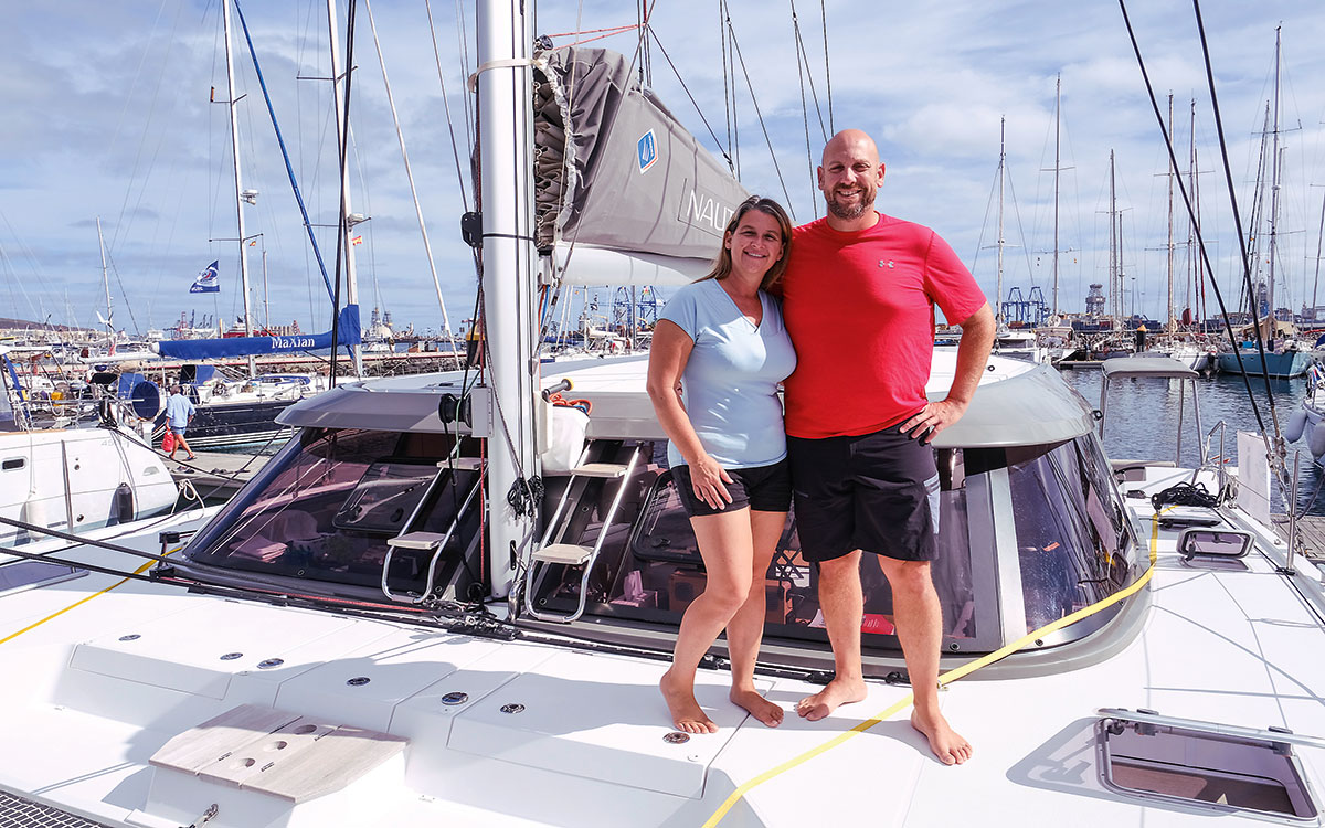 Faddy and Annie before their Atlantic crossing