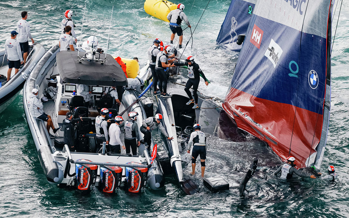American Magic capsize and damage: What went wrong? - Yachting World