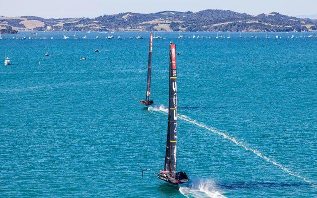 Luna Rossa leads the Prada Cup Final - Race 5