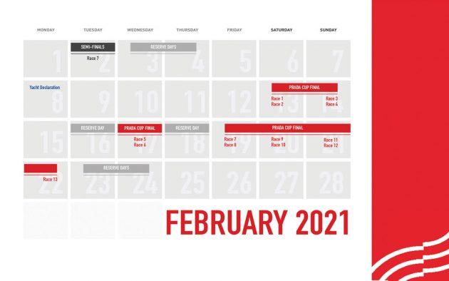 Prada Cup final calendar