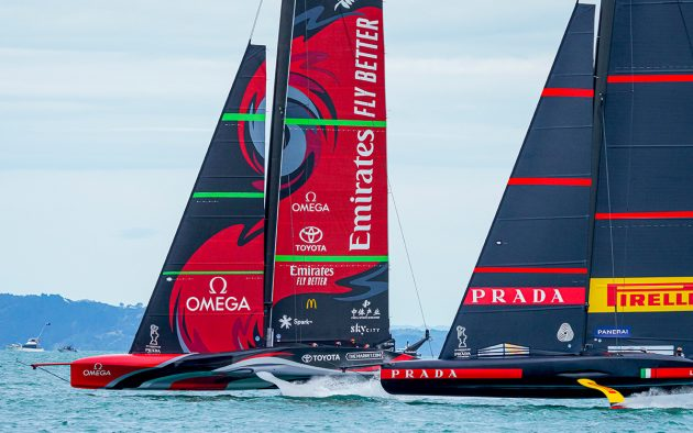 America's Cup racing, first start