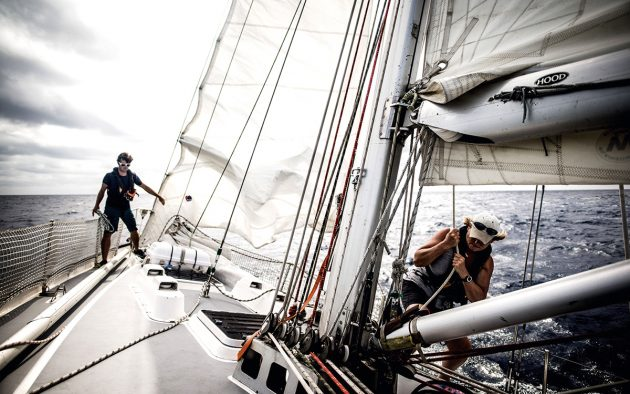 To avoid seasickness, make sail changes early and be kind to the crew