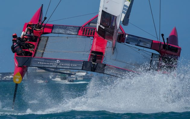 Thrills and spills for sailGP weekend one