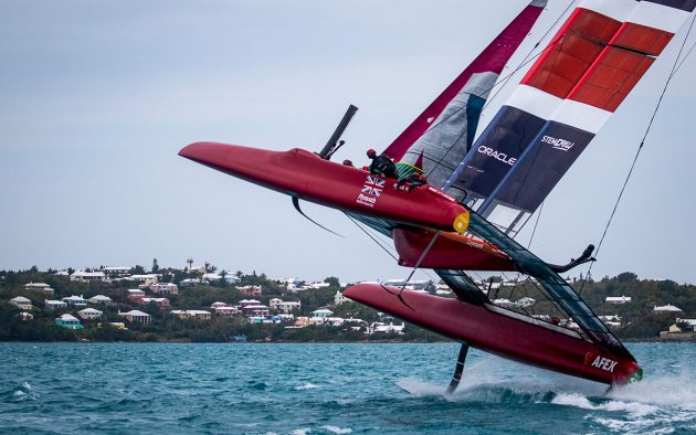 Ainslie's SailGP team leap from the water
