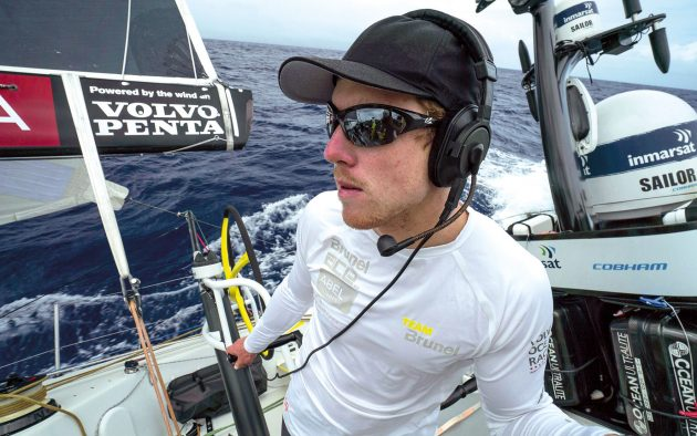 Communication by headset is commonplace – and often essential – on large racing yachts. Photo: Yann Riou/Volvo Ocean Race