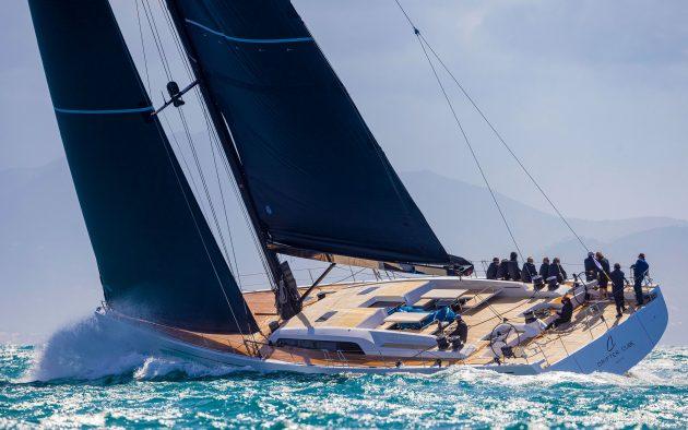 Swan 98 under sail. Photo: Carlo Borlenghi
