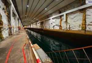 Submarine base at Olasvern, Norway