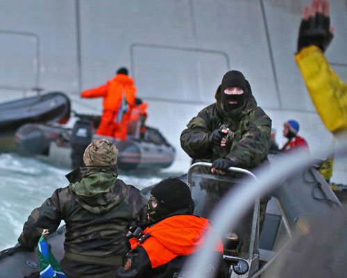 Greenpeace activists arrested