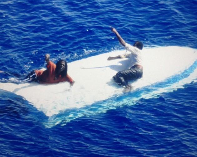 Fisherman stranded at sea