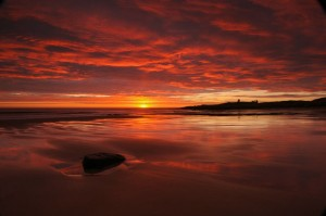 Dunstanburgh?s dramatic sunrise