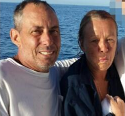 Couple rescued from water