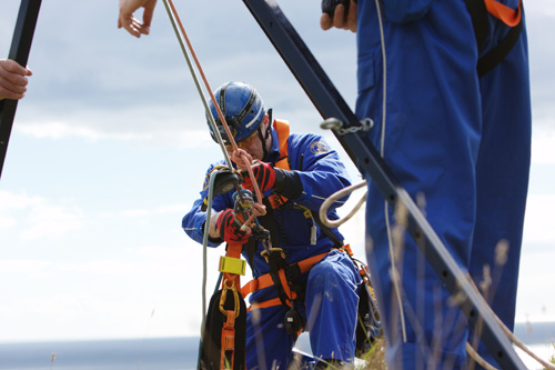 Coastguard rescue officer