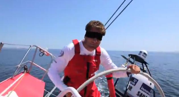 Race a yacht blindfolded