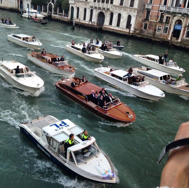 Video George Clooney Cruises To His Venice Wedding Ybw