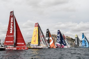 The 2014/15 Volvo Ocean Race kicked off in the port of Alicante over the weekend, with around 50,000 spectators flocking to the dockside to wish the sailors fair winds.