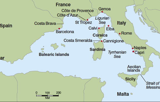 Chartering In West Mediterranean YBW - Is spain in france