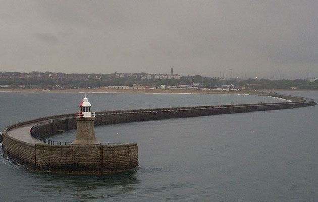 River Tyne breakwater