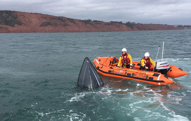 Sinking motorboat off Exmouth