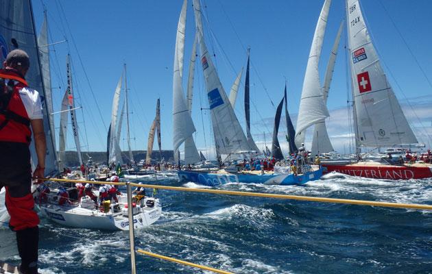 Clipper Race fleet debut in Round the Island Race