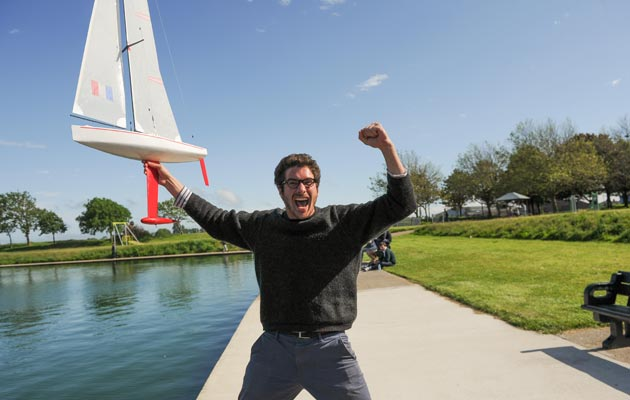 Pierre-Antoine Tesson from France won the Solent University Model Yacht Race