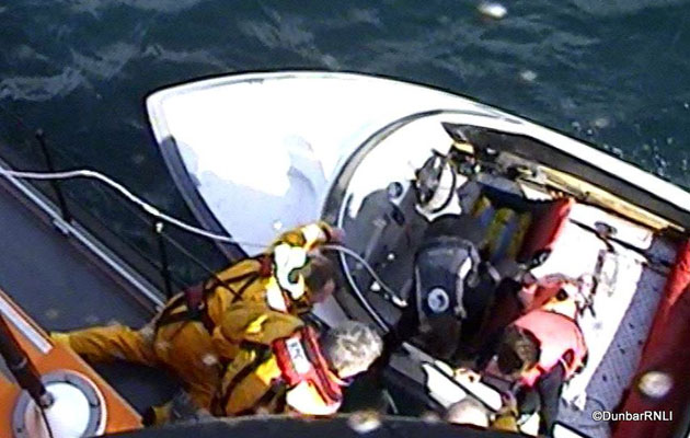 Teenagers rescued at sea