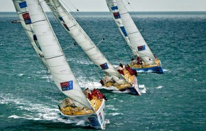 Round the world yacht race day 1
