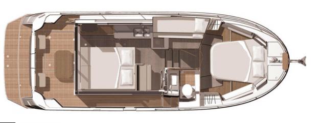 Beneteau Swift Trawler 30 - layout