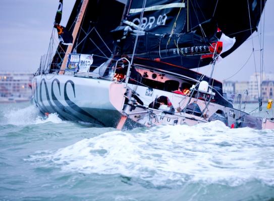 Hugo Boss IMOCA boat