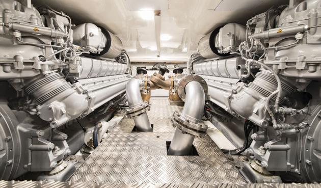 MCY 105 engine room