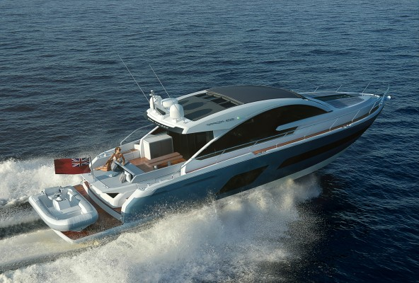 woman onboard fairline targa 53 yacht