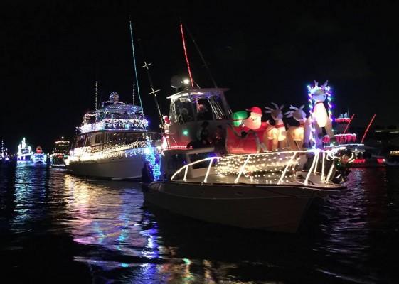 boats at christmas