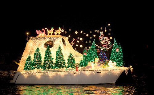 boats at christmas